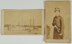 Lot 61: Civil War Union Naval CDV Ironsides and officer