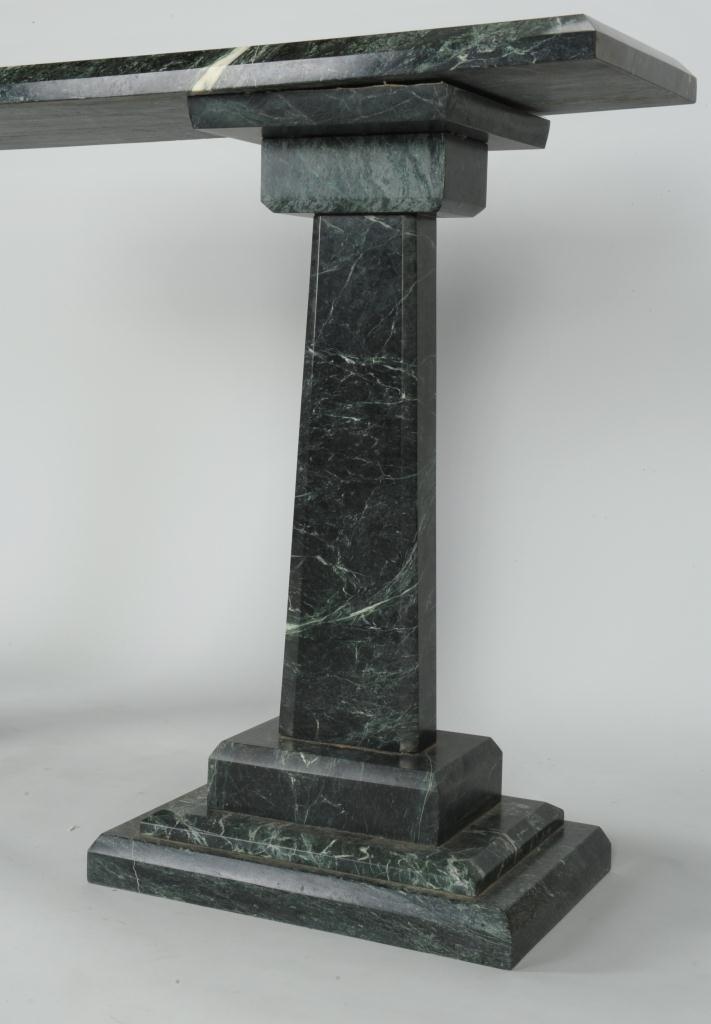Lot 623: Marble serving table by Bruce Bennett, MFA