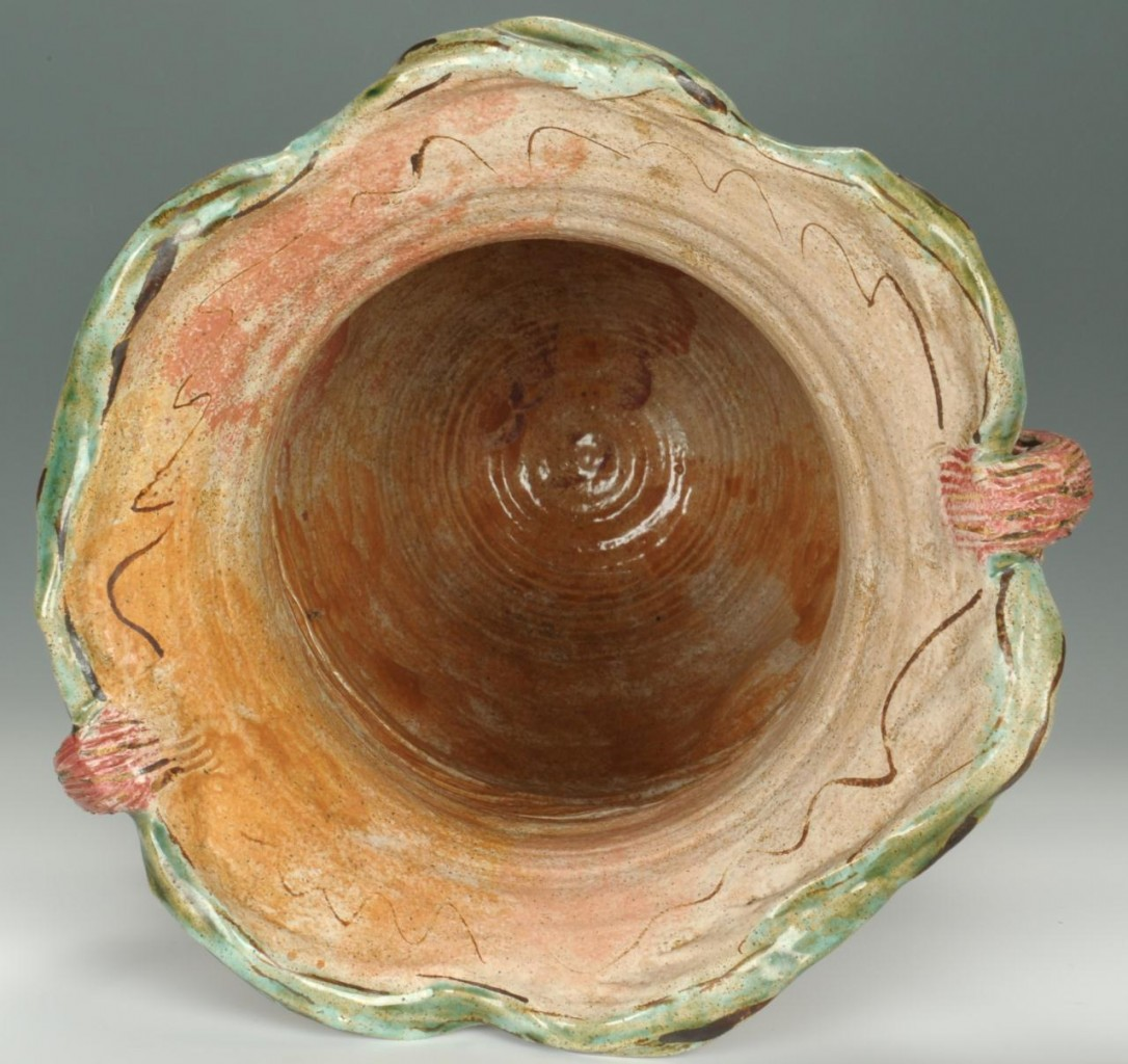 Lot 625: Contemporary Art Pottery Vase Judy Brater Rose