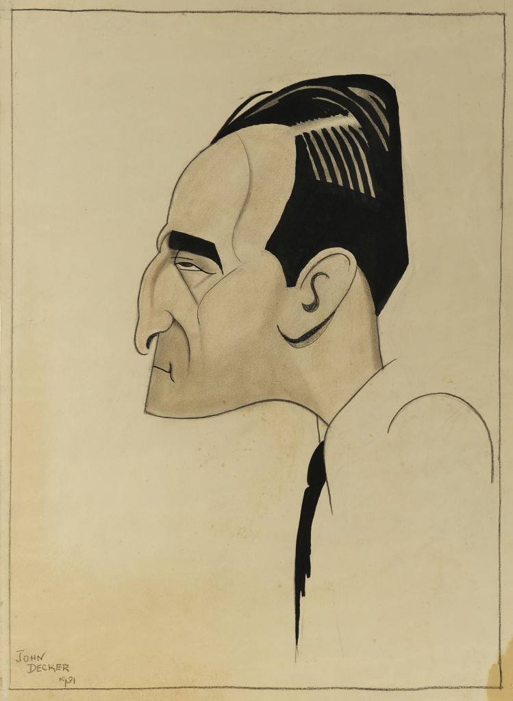 Lot 629: Francis Faragoh Portrait by John Decker
