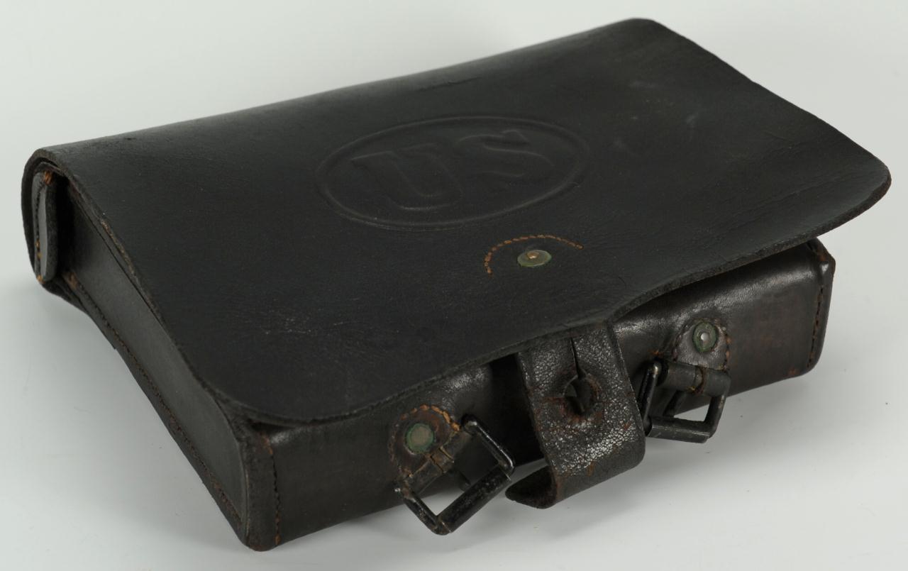 Lot 62: Civil War Union Cartridge Pouch