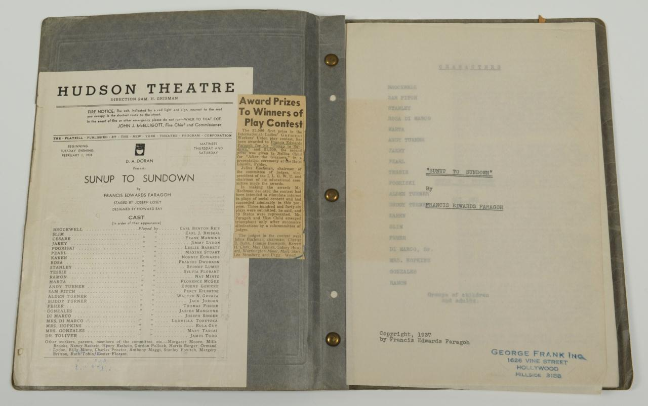 Lot 631: Francis Edwards Faragoh Entertainment Archive