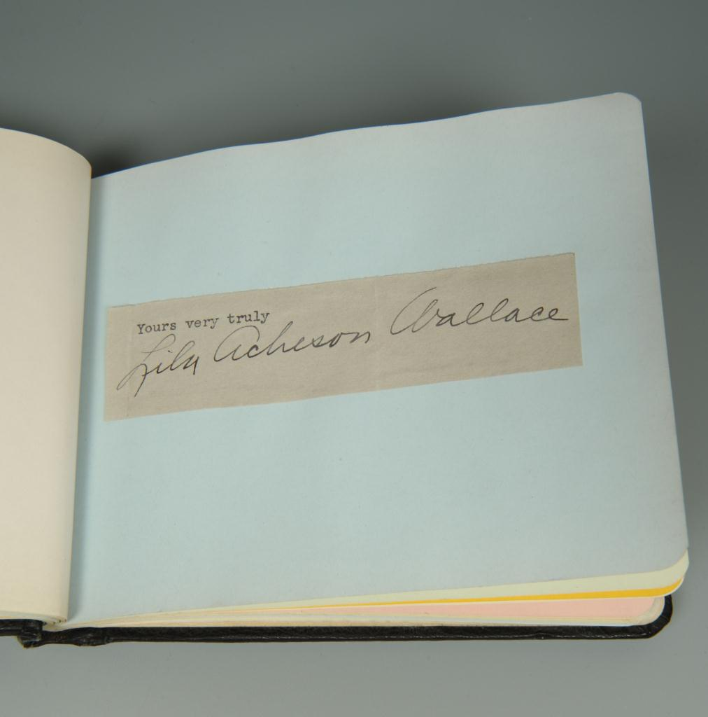 Lot 634: Early 20th Century Autograph Book, 20 total