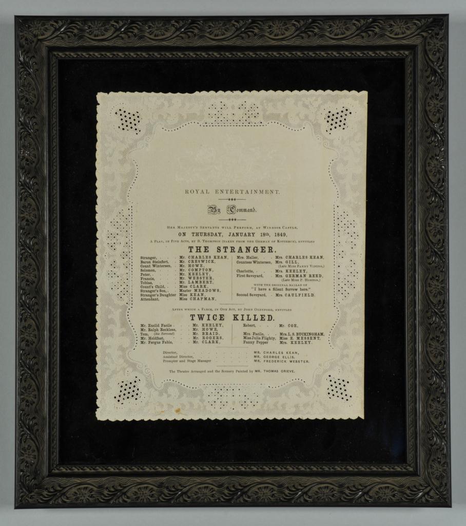 Lot 635: 4 Victorian Windsor Castle Theater Programmes