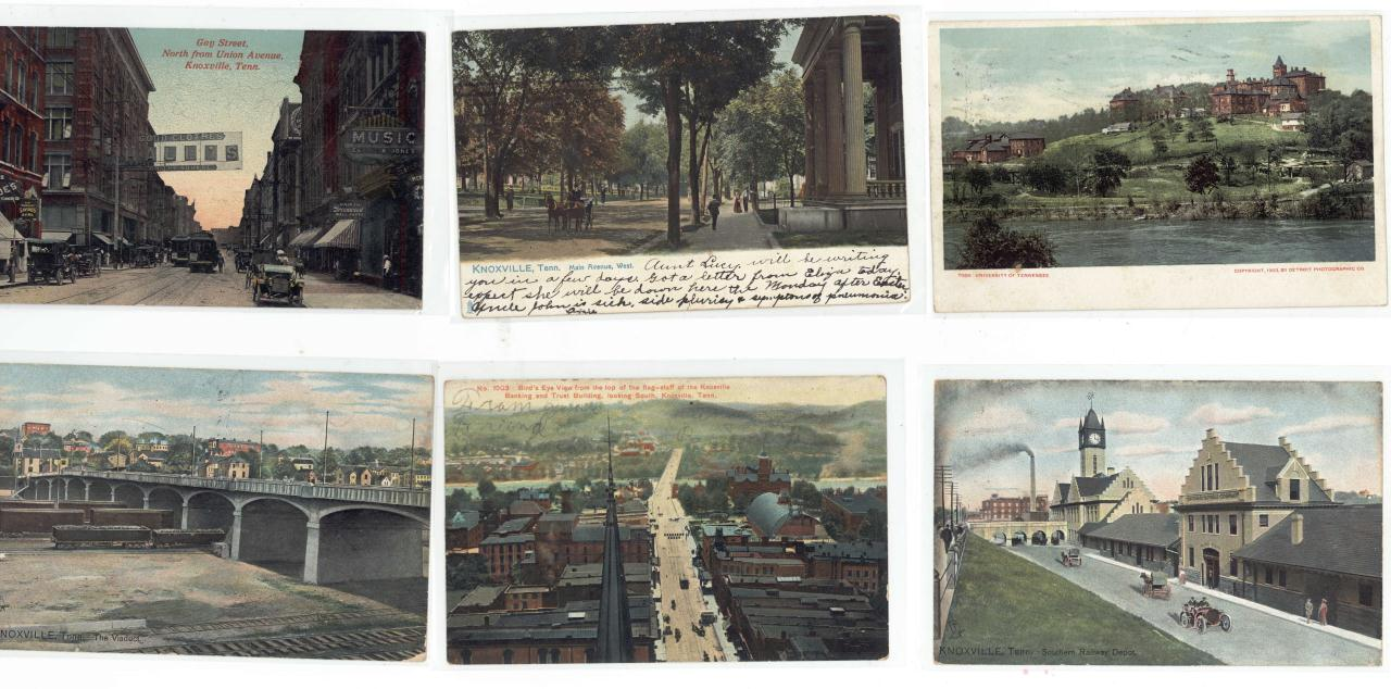 Lot 636: Early 20th c. Postcard Collection, Knoxville views