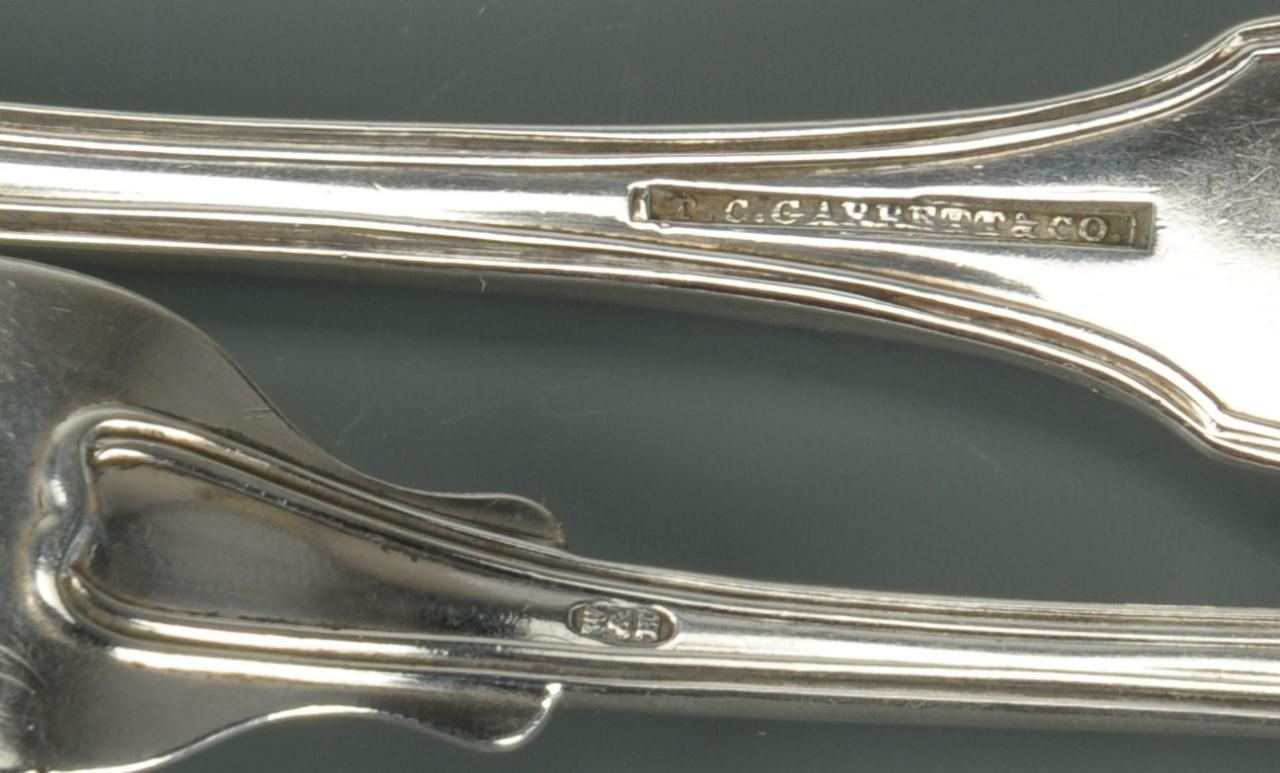 Lot 63: 4 Coin Silver Forks, McGavock Family of TN
