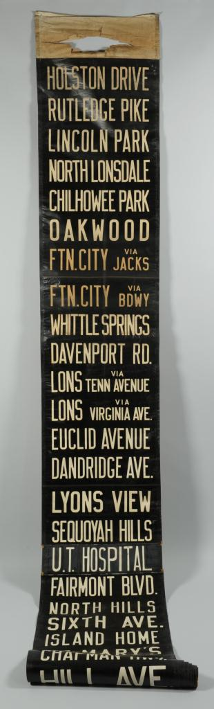 Lot 642: Early Knoxville Tennessee Bus Schedule Roll