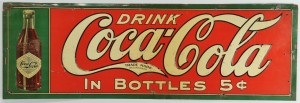 Lot 643: Circa 1915 Coca-Cola Embossed Sign