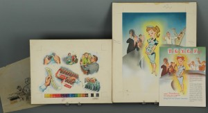 Lot 645: Coca-Cola Original Ad Illustration by George Parr