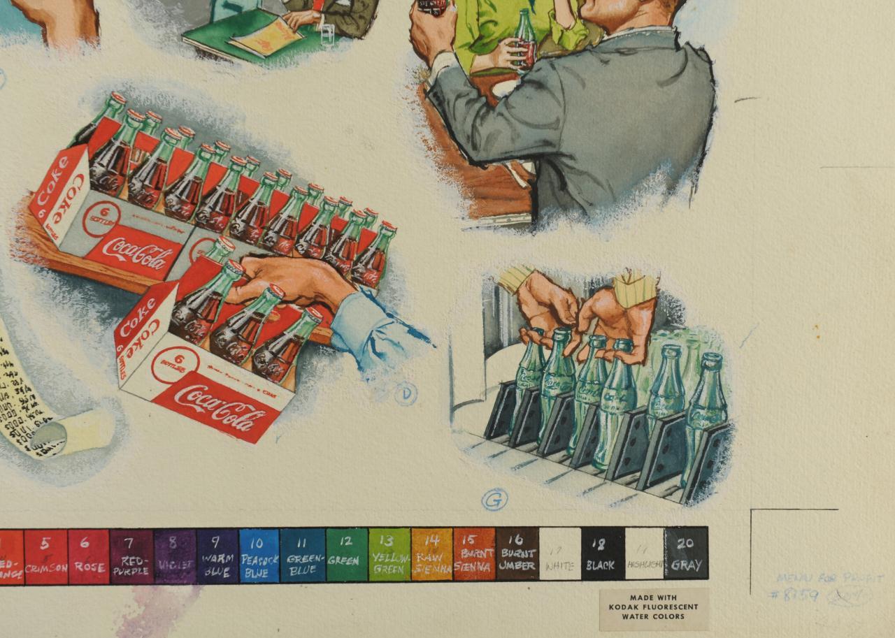 Lot 645: Coca-Cola Original Ad Illustration by George Parr