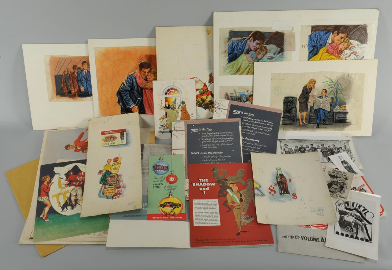 Lot 646: George Parrish ad Illustrations and material