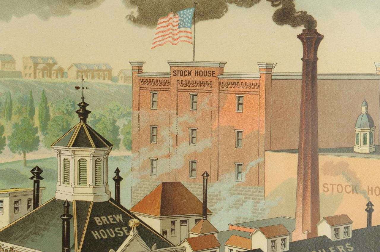 Lot 647: Eberhardt & Ober Brewing Co Lithograph Poster