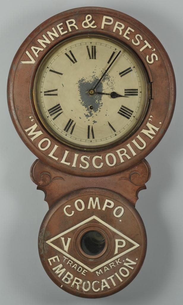 Lot 648: Vanner and Prest's Advertisement Clock