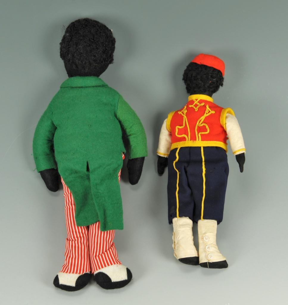Lot 655: Collection of eleven black dolls
