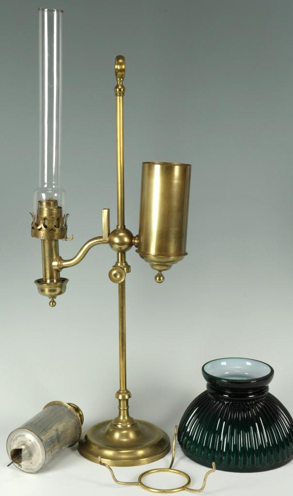 Lot 660: Kleemann Student lamp and Hooded Candle Stick