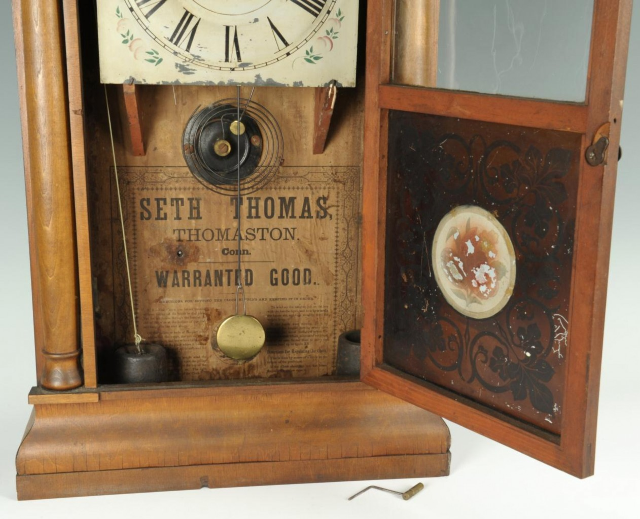 Lot 662: Seth Thomas Mahogany Labeled Shelf Clock