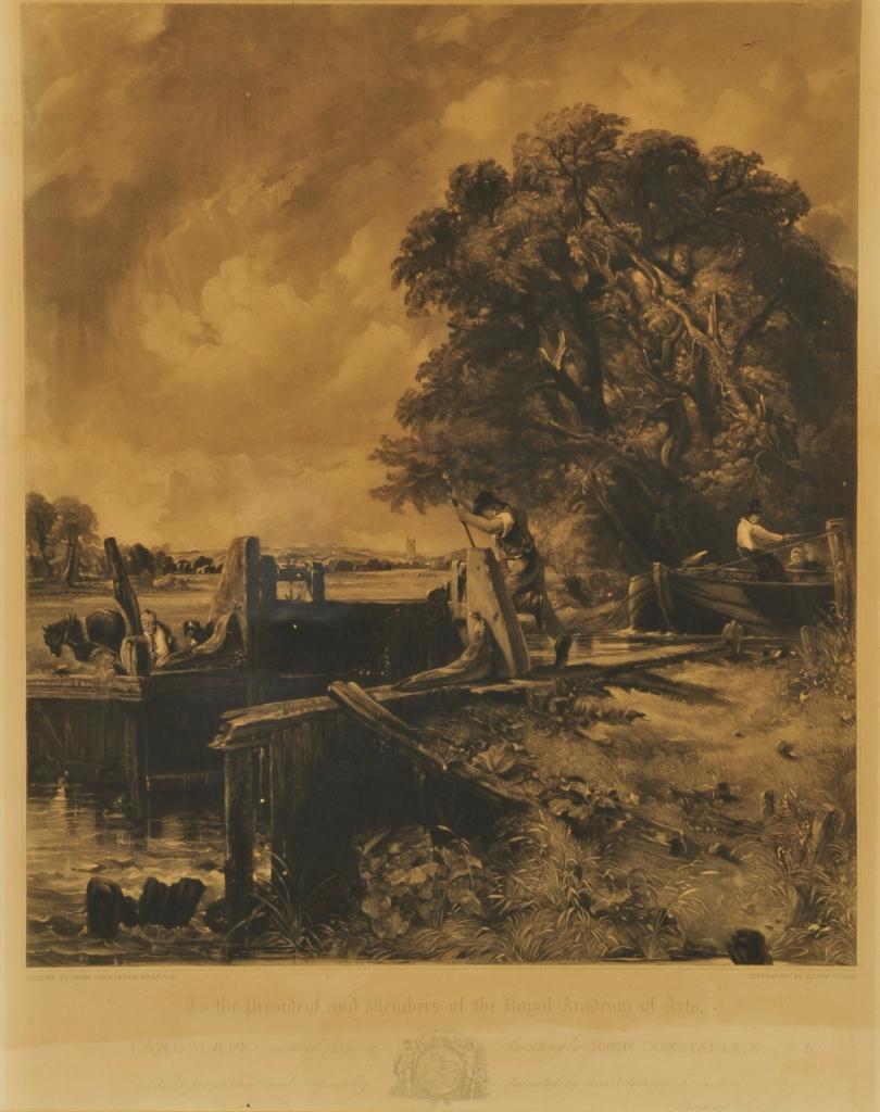 Lot 664: After John Constable, Pair landscape Engravings