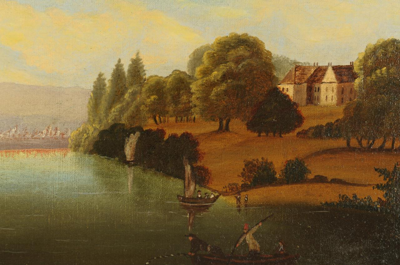 Lot 666: Hudson River School Oil on Canvas