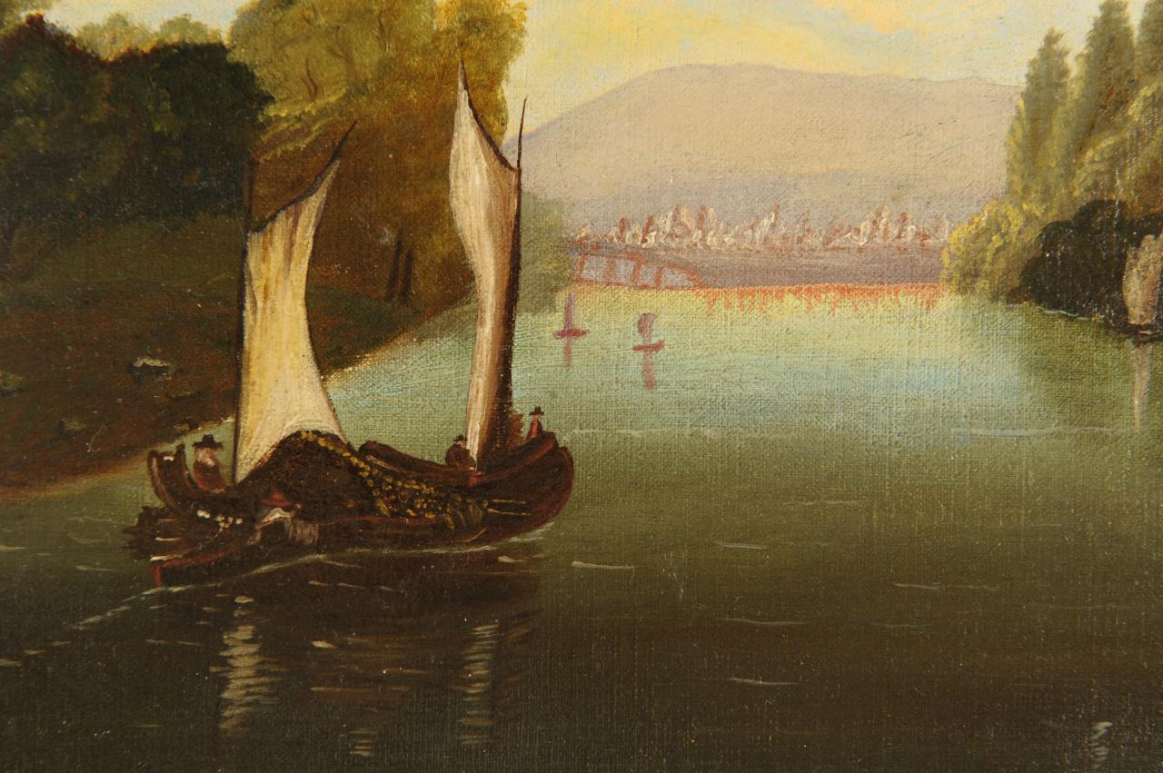 Lot 666: Hudson River School Oil on Canvas