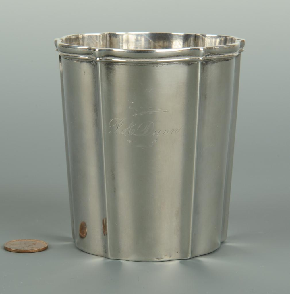 Lot 66: Rococo style silver cup or beaker