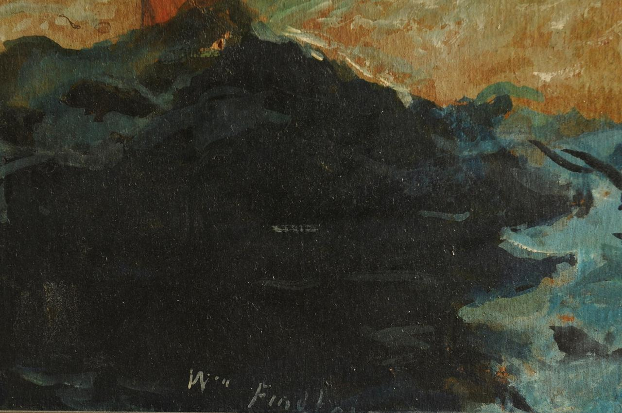 Lot 670: William Findlay Oil on Board of Freighter Ship