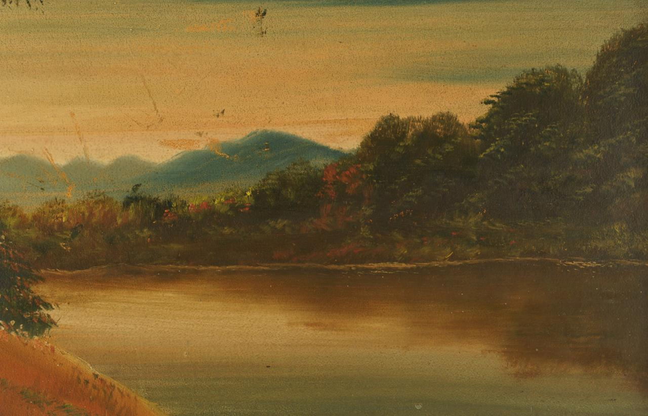 Lot 671: 3 Smoky Mountain landscapes by John Roberts