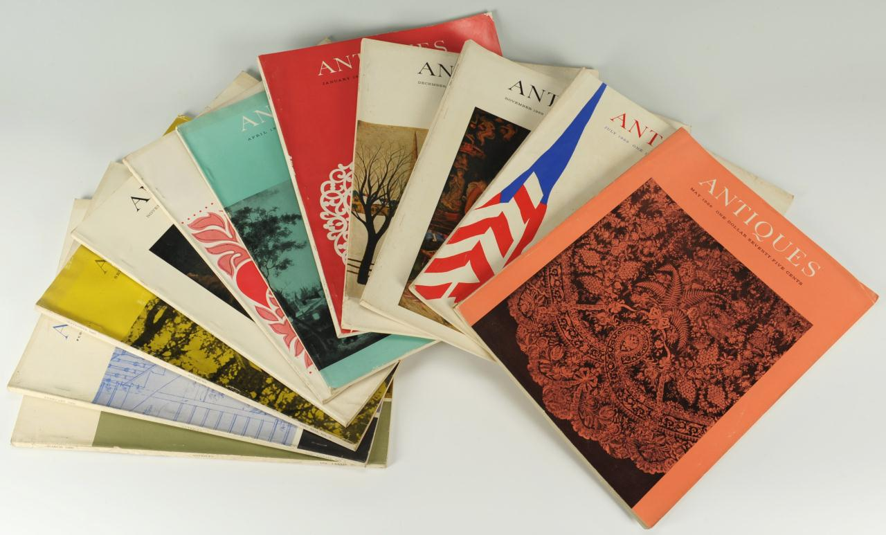 Lot 674: 160 copies of The Magazine Antiques