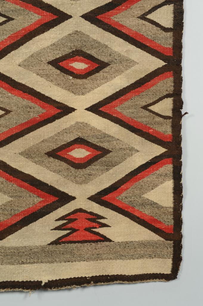 Lot 682: Navajo Blanket with Diamond Design