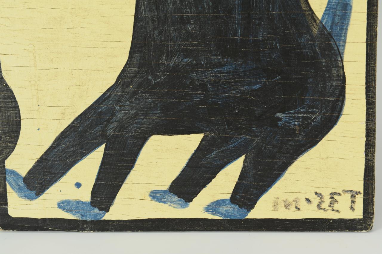 Lot 684: Mose Tolliver, Folk Art Giraffe Painting