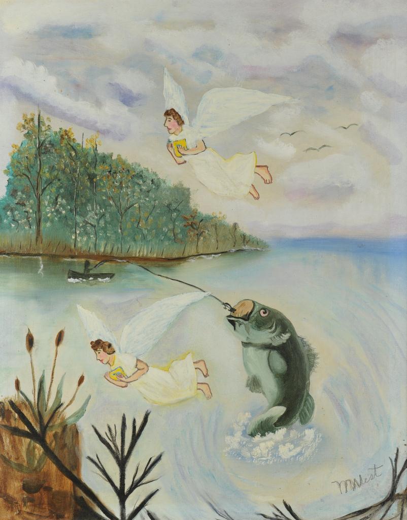 Lot 685: 2 Folk Art Works by Myrtice West
