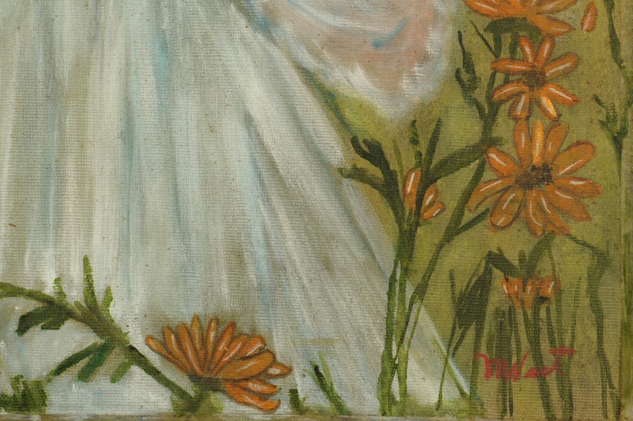 Lot 686: Folk Art Painting by Myrtice West