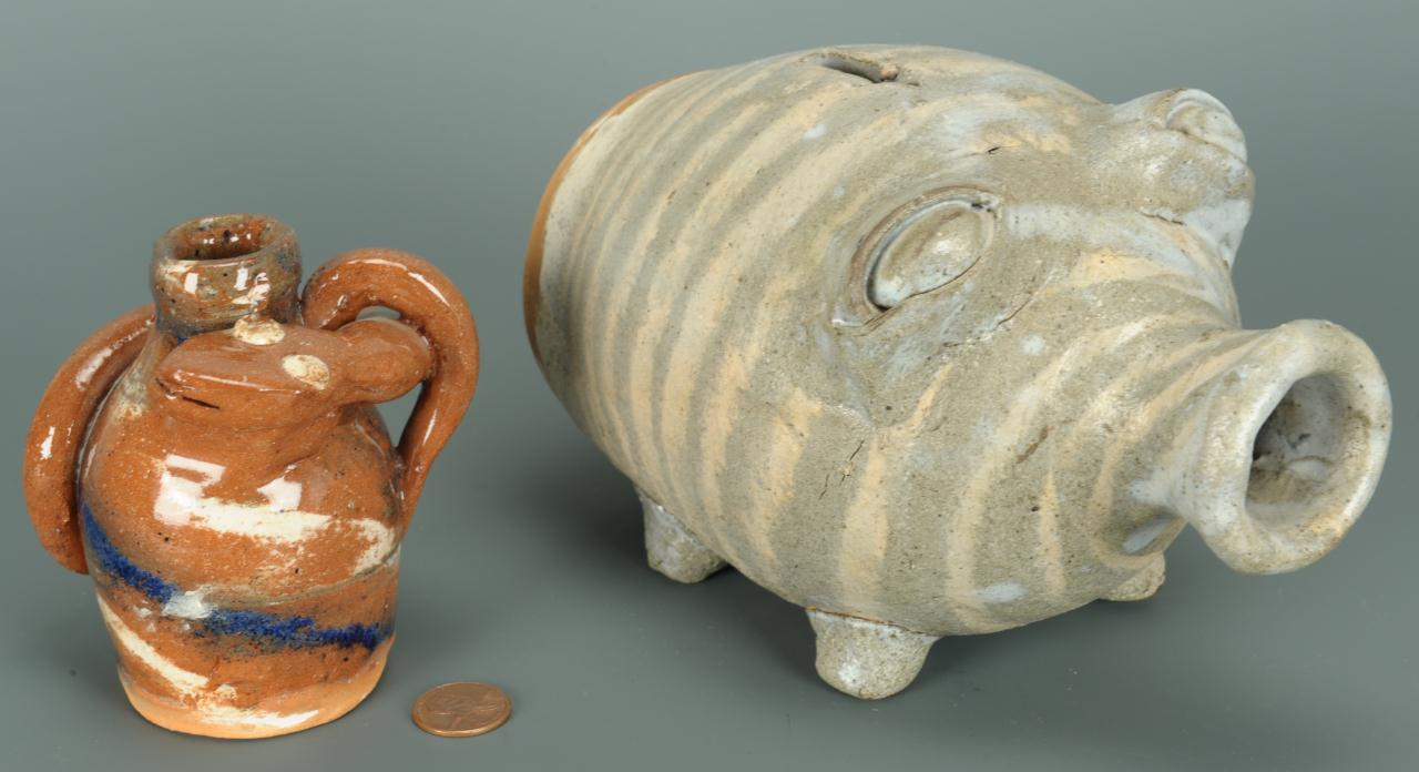 Lot 688: 2 NC Folk Pottery Items by Burlon Craig