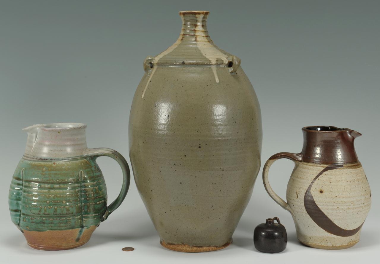 Lot 692: 4 pcs pottery inc Steve Turpin and Cynthia Bringle