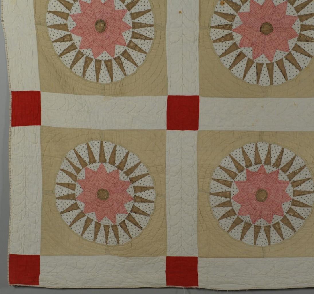 Lot 695: Compass star variant quilt