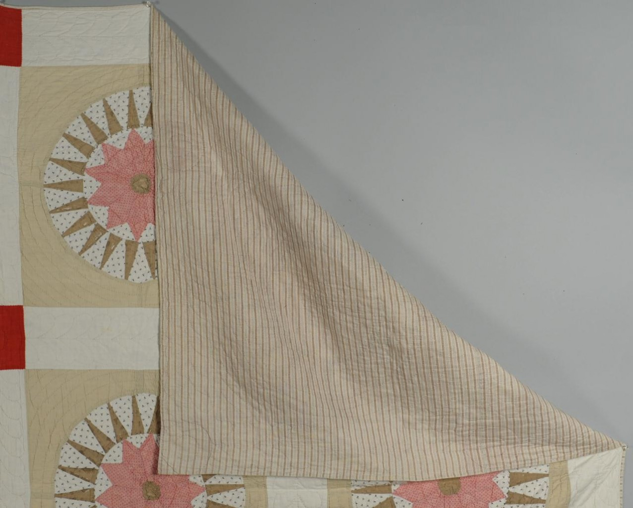 Lot 695: Compass star variant quilt