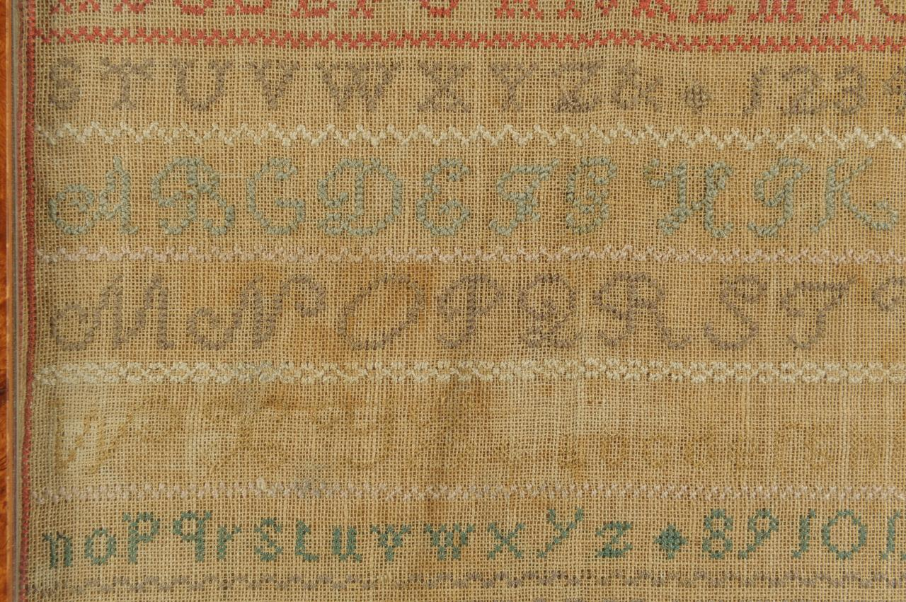 Lot 696: New England Sampler by Mary Francis Amory