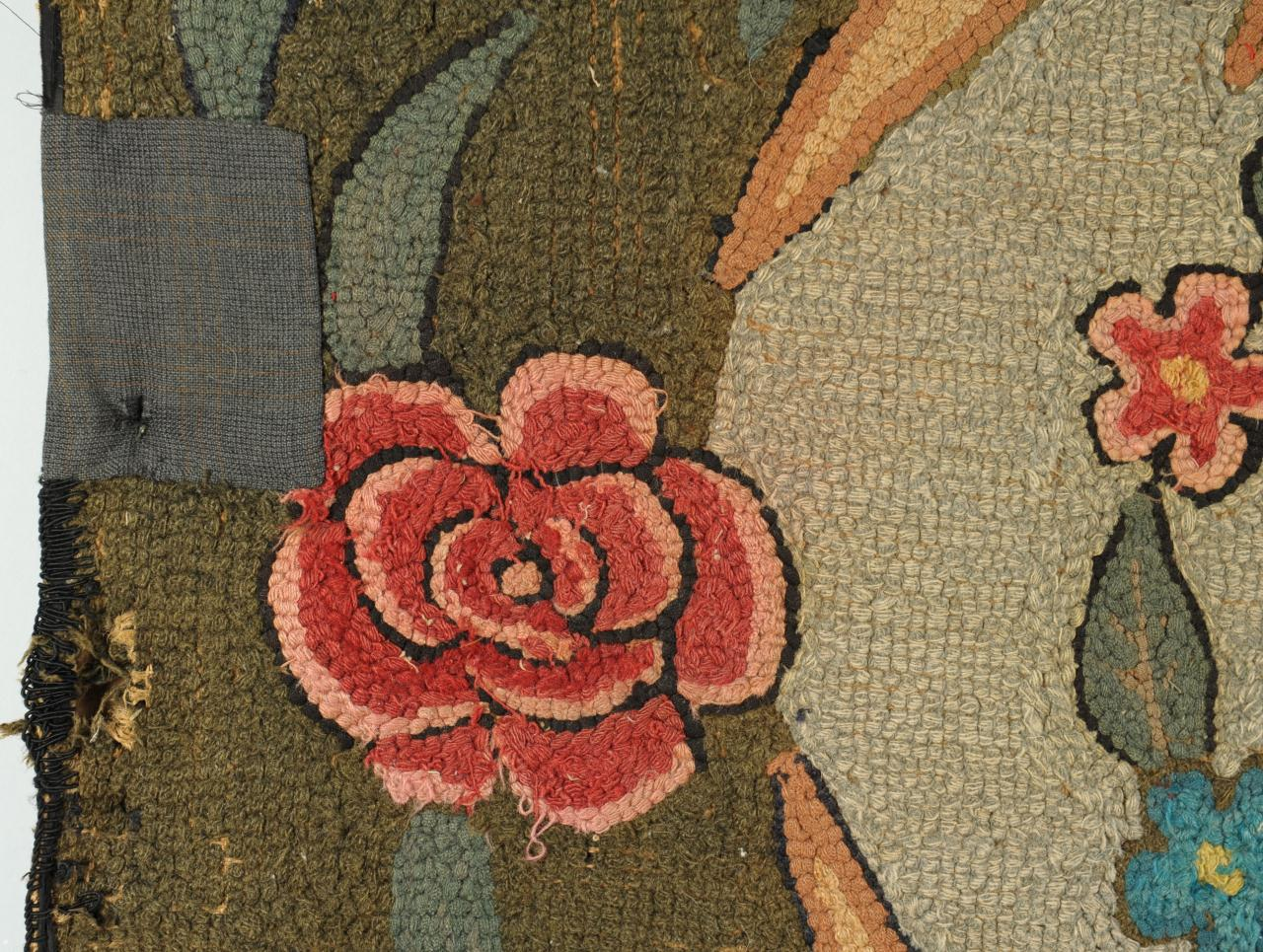 Lot 699: Hooked Rug with Horse