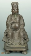 Lot 6: Seated Bronze Buddha Figure, French Indochina