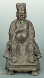 Lot 6: Seated Bronze Buddha Figure, French Indochina