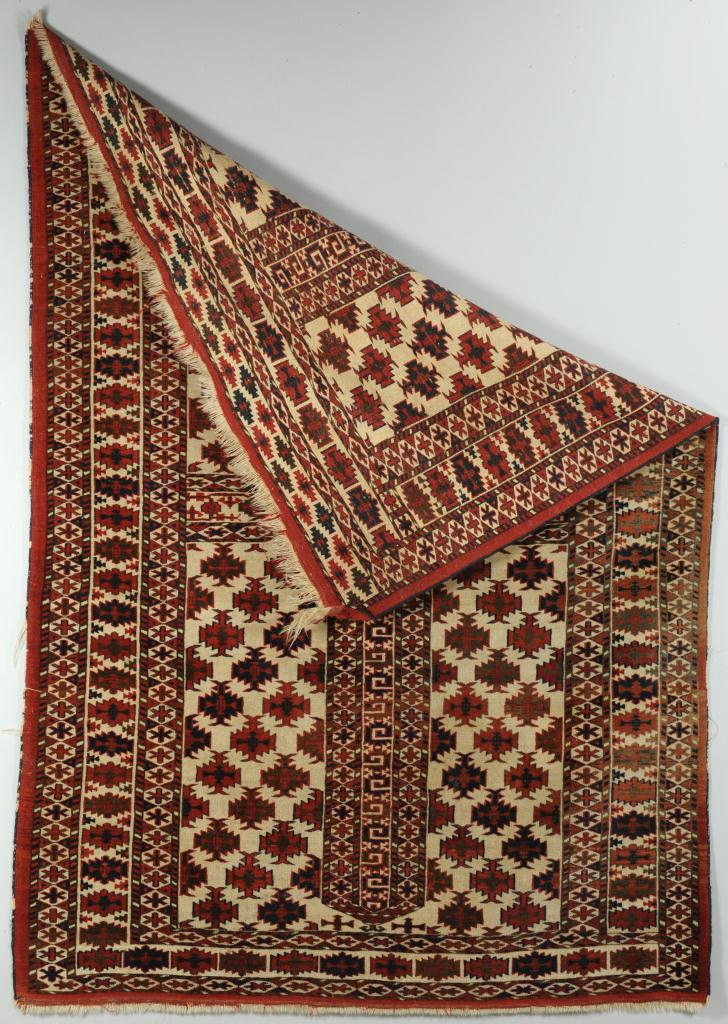 """Lot 700: Persian Turkoman Rug, 6'6"""" x 4'7"""""""
