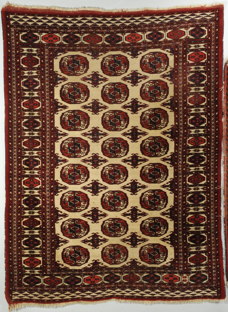 "Lot 702: 2 Persian Turkoman Rugs, 6'6"" x 5' and 5'3"" x 3'5"""