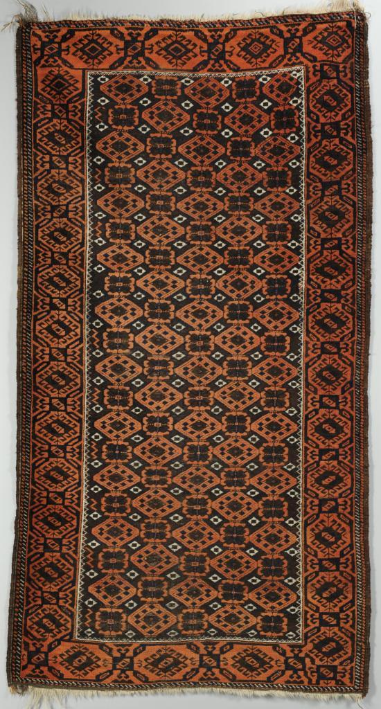 """Lot 703: Persian Balouch Rug Runner, 3'4"""" x 6'3"""""""