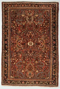 "Lot 704: Sarouk Area Rug, 3'3"" x 4'9"""