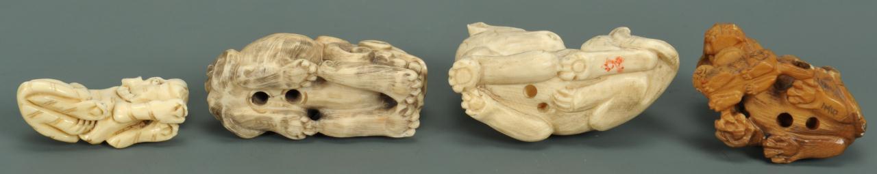 Lot 707: Lot of 4 Japanese Ivory Netsukes