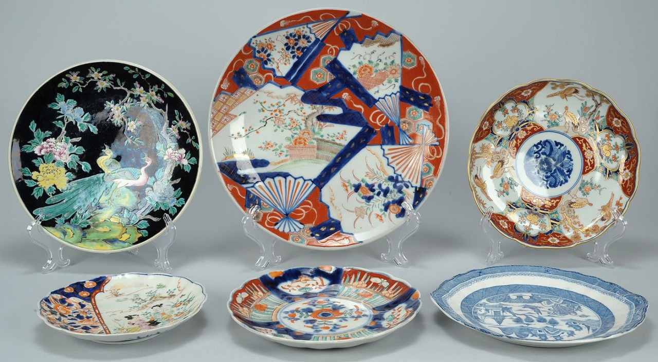 Lot 711: Grouping of 6 Asian Porcelain Plates