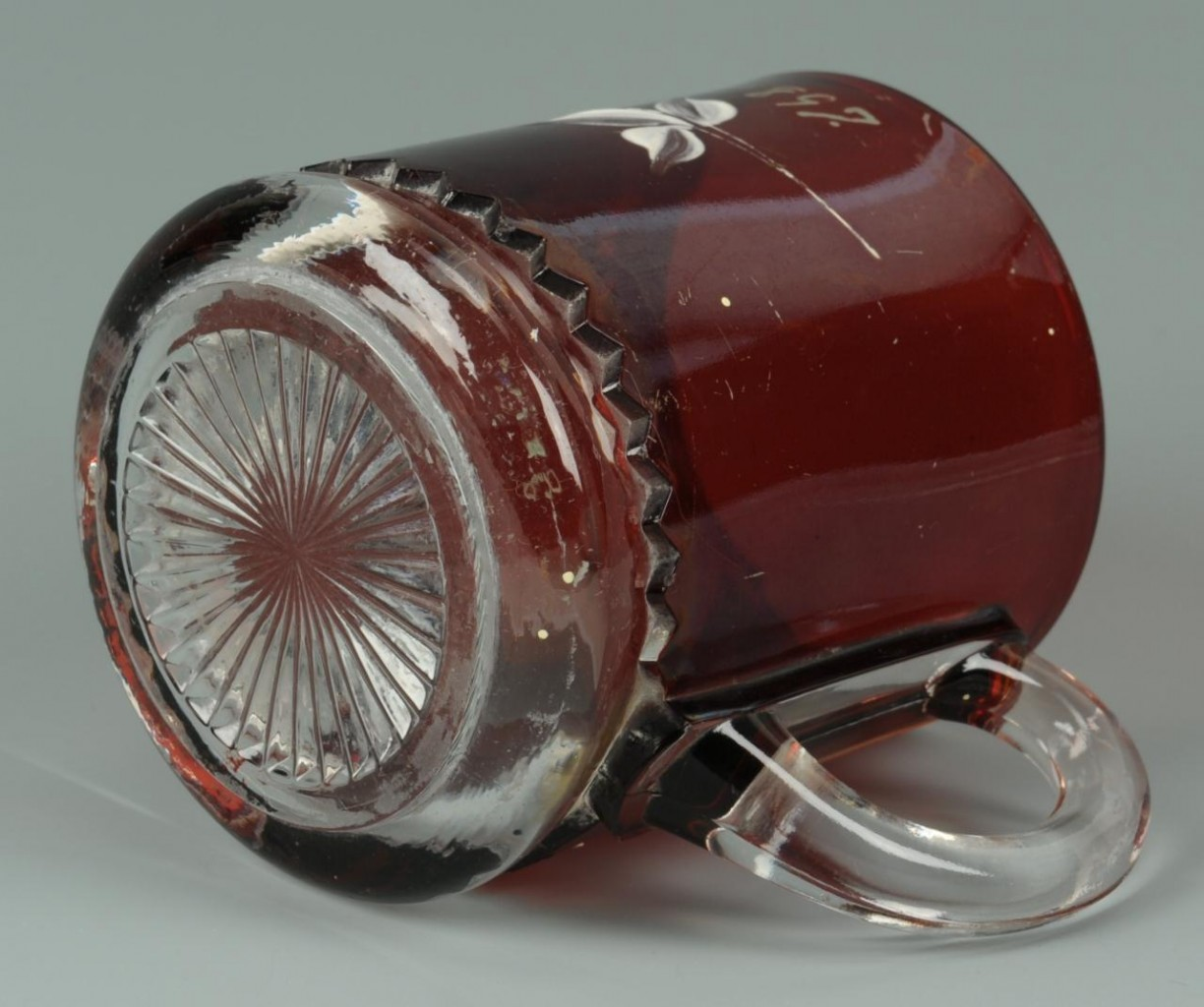 Lot 716: 3 Glass items: Pickle Caster, TN Centennial cup, S