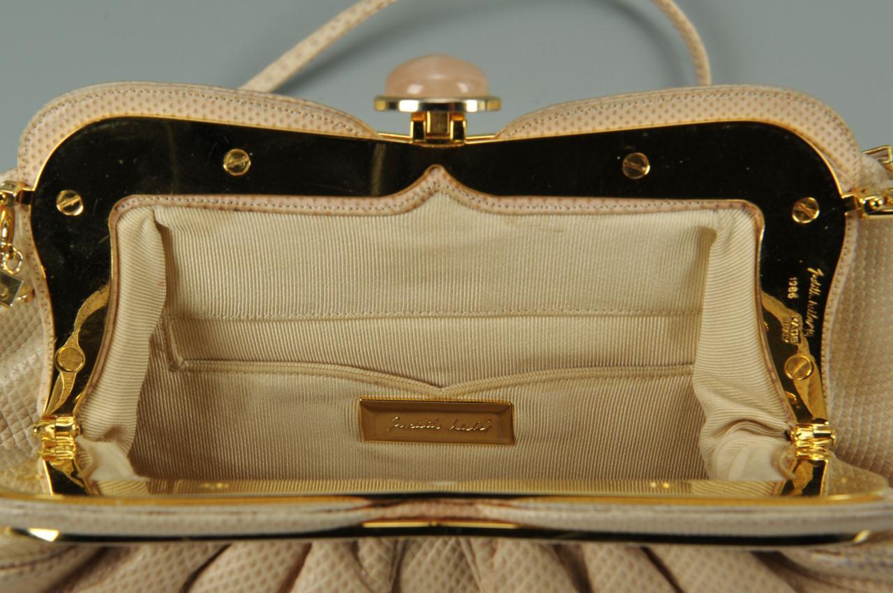Lot 723: Judith Leiber Snakeskin Evening Bag
