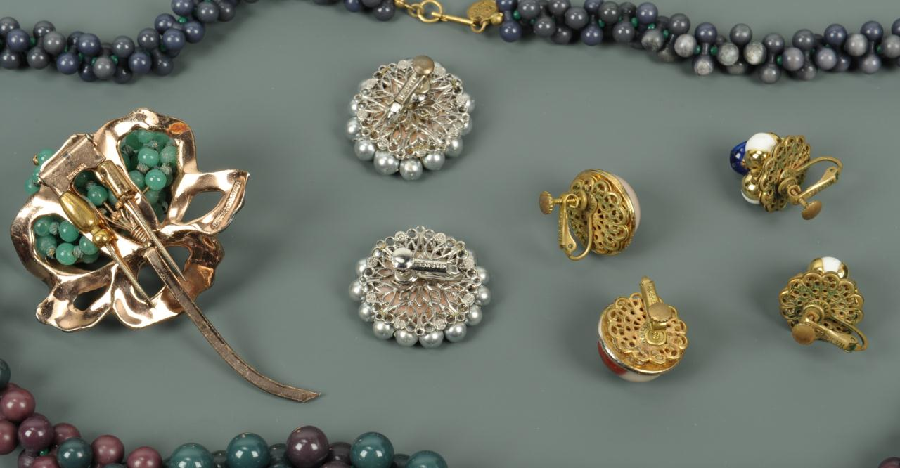 lot 725 costume jewelry lot m haskell n rosenstein