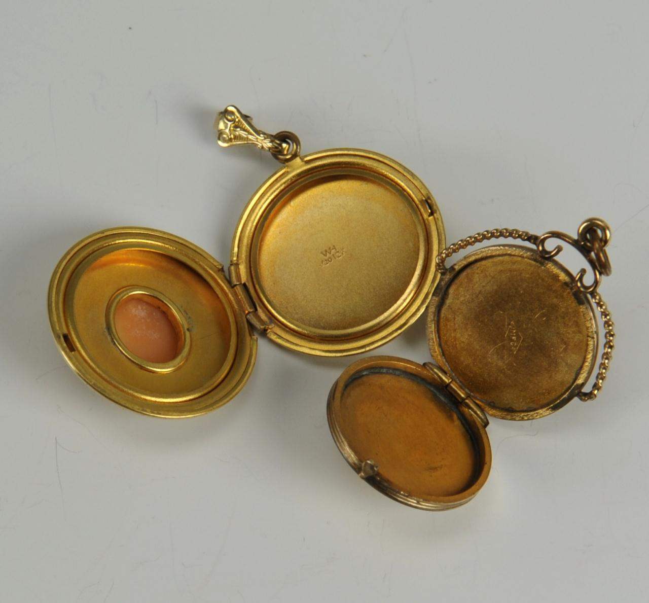 6f0b77d1a1790 Lot 728: 14 pcs of Cameo Jewelry, some 14K and 10K