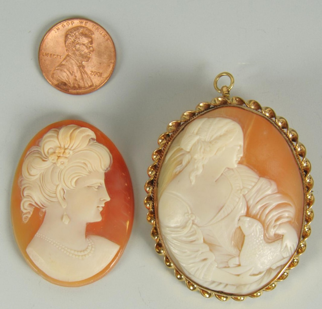 Lot 737: 2 Cameos: Lady with Lamb and Edwardian